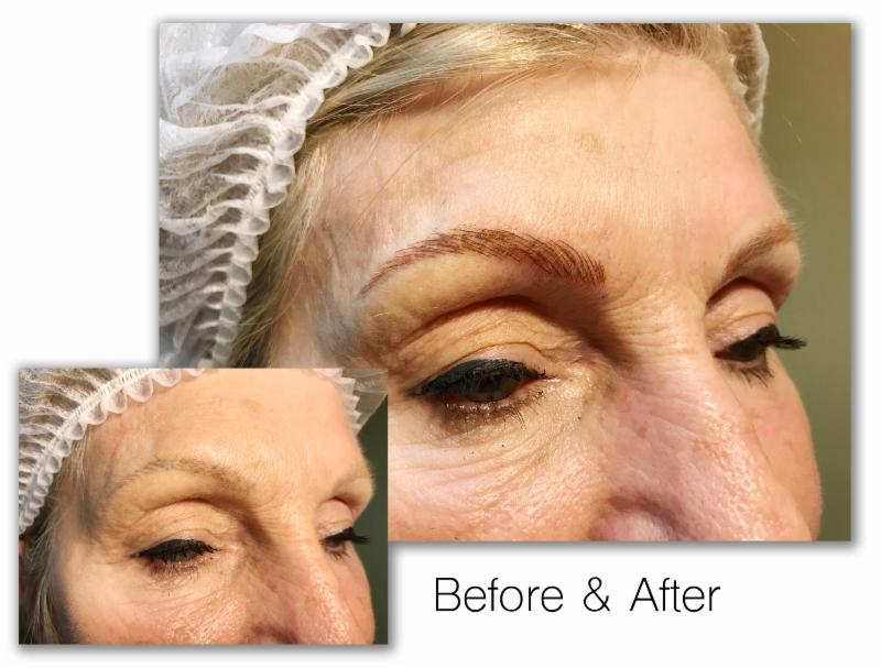 microblading eyebrows before and after